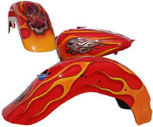 Motorcycle Body Parts with Custom Graphics